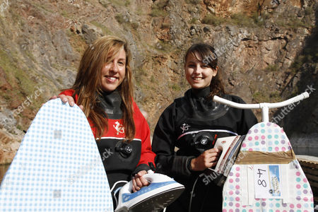 Stock Photo of Competitors Jade McKeown and Rachael Holmes