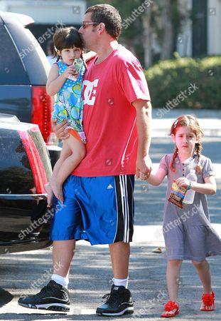 Adam Sandler, Sunny Sandler, Sadie Madison Sandler