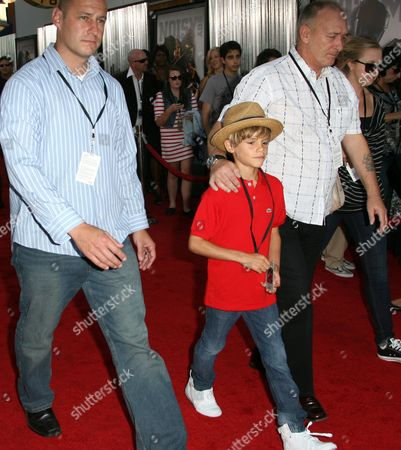 Romeo Beckham and Ted Beckham