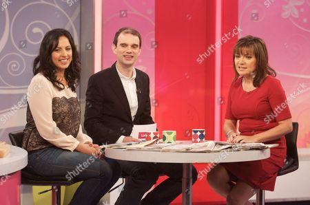 Aasmah Mir and Sam Delaney with Lorraine Kelly