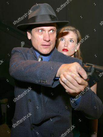 Simon Merrells as Philip Marlowe and Samantha Coughlan