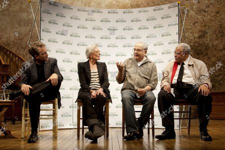 Boyd Gaines (Boolie Werthan), Alfred Uhry (Author), Vanessa Redgrave (Daisy Werthan) and James Earl Jones (Hoke Coleburn)