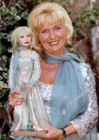 Television Puppets Thunderbirds Actress Sylvia Anderson With Lady Penelope