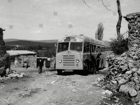 London To Calcutta Bus Trip 1957 (london To India By Bus) The Coach Full Of 20 British During Their Trip The Bus Passes Through Turkey