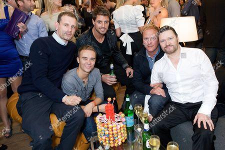 Ben Price, Jack P Shepherd, Keith Duffy, Antony Cotton and Ian Pulestone-Davies