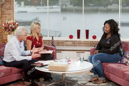 Stock Photo of Phillip Schofield and Holly Willoughby with Gina Moffatt