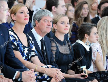 Uma Thurman, Yves Carcelle and Abbie Cornish