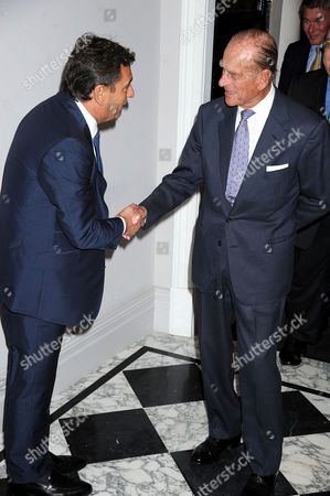 Stock Photo of Gary Landesberg (co-owner of The Arts Club) and Prince Philip