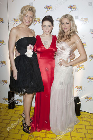 Hannah Waddingham (Miss Gulch/Wicked Witch of the West), Danielle Hope (Dorothy) and Emily Tierney (Glinda)