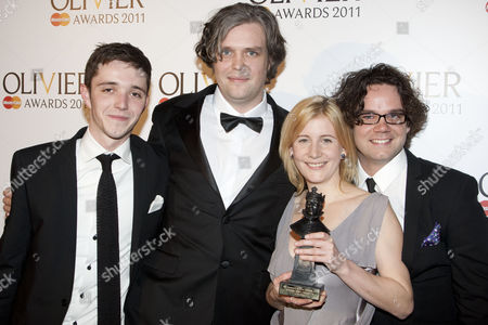 Ben Cooper, Steve Marmion, Robin Norton-Hale and Adam Spreadbury-Maher accept the award for Best New Opera Production for 'La Boheme'
