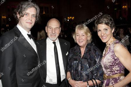 Steve Marmion, Sir Patrick Stewart, Susie Sainsbury and Tamsin Greig