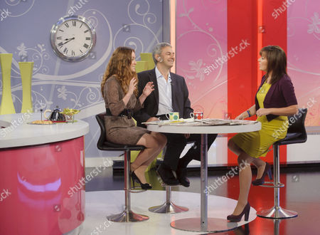 Martell Maxwell and Kevin Maguire with Lorraine Kelly