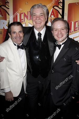 Michael Matus (Tito Merelli), Matthew Kelly (Henry Saunders) and Damian Humbley (Max)