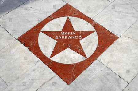 Actress Maria Barranco, star, walk of fame, El Paseo de Estrellas, Albir, Alicante, Costa Blanca, Spain