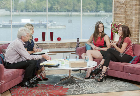 Phillip Schofield and Holly Willoughby with Paige Turner and Teresa Scott