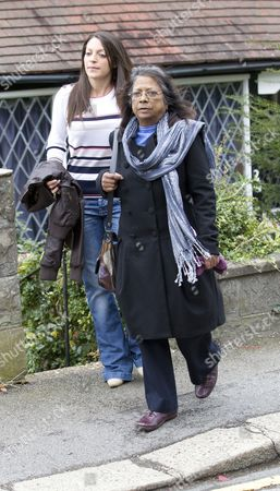 Editorial image of Arline Kercher and daughter Stephanie leaving their home, Coulsdon, Surrey, Britain - 05 Oct 2011