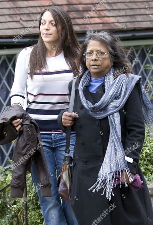 Editorial picture of Arline Kercher and daughter Stephanie leaving their home, Coulsdon, Surrey, Britain - 05 Oct 2011