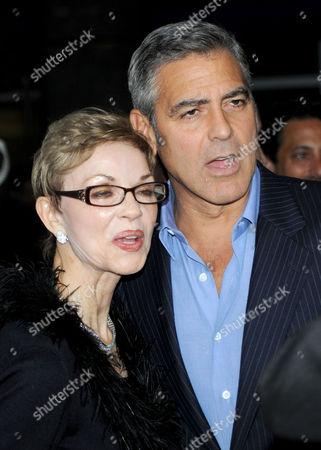 George Clooney and his mum Nina Warren