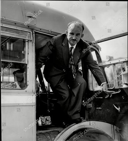 London To Calcutta Bus Trip 1957 (london To India By Bus) The Coach Full Of 20 British During Their Trip Driver And Organiser Paddy Garrow Fisher