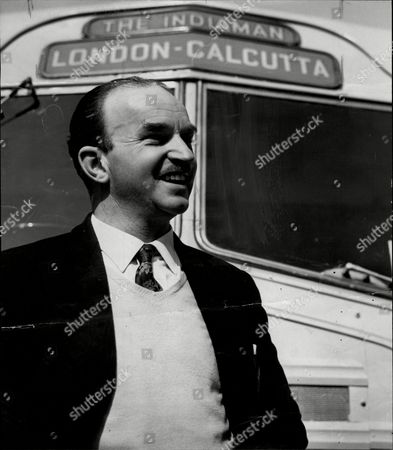 London To Calcutta Bus Trip 1957 (london To India By Bus) The Coach Full Of 20 British During Their Trip Mr Oswald Garrow Fisher Driver An Organiser Of The Trip