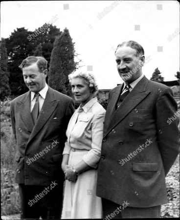 Stock Photo of Joint Headmasters At Cheam School Peter Beck With His With Mrs Mary Beck And Mr M Wheeler Right At Cheam School