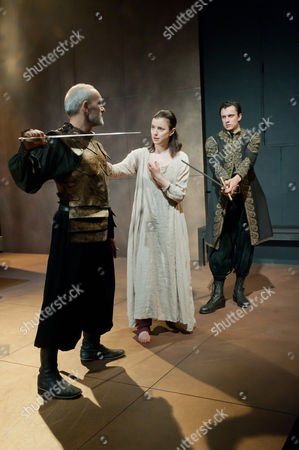 'Iphigenia' - Christopher Hunter as Thoas, Laura Rees as Iphigenia and Tom Mothersdale as Orestes