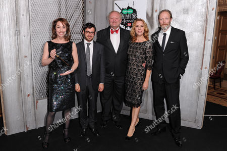 Stock Photo of Sofie Grabol, Simon Bird, Bjarne Henriksen, Ann Eleonora Jorgensen and Lars Mikklesen