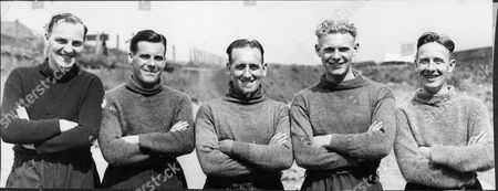 Five Of Raith Rovers New Players Signed During The Close Season L To R Mcreaddie Goalkeeper Egerton Outside Left Sharp Inside Left Campbell And Alex Lowe The Scottish International Signed From Falkirk