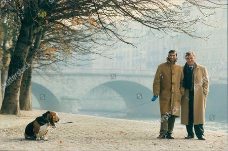 Author Edmund White (right) In Paris With Partner Hubert Sorin