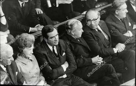 The Labour Party Front Bench At The House Of Commons. L-r: Edward Short Barbara Castle Denis Healey Harold Wilson Roy Jenkins And James Callaghan.
