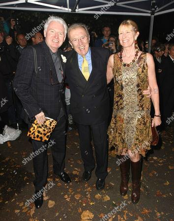 Mike McCartney, Sir David Frost and Lady Carina Fitzalan-Howard