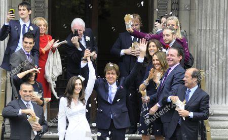 Nancy Shevell and Sir Paul McCartney, Mike McCartney, James McCartney