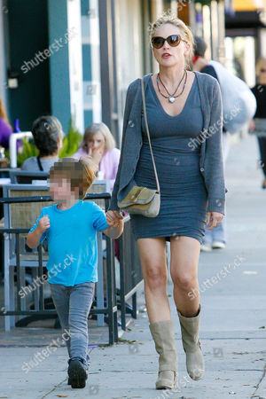 Sharon Stone and son Quinn Kelly Stone
