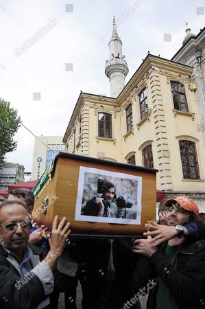 Editorial picture of Funeral of photojournalist and SIPA founder Goksin Sipahioglu, Istanbul, Turkey - 10 Oct 2011