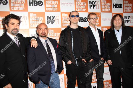 Co-Director Joe Berlinger, Jessie Misskelley Jr, Damien Echols, Jason Baldwin, Co-Director Bruce Sinofsky