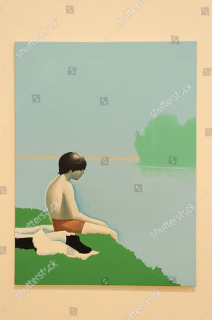 Stock Image of 'Bathers at Asnieres', 2010, by Wilhelm Sasnal