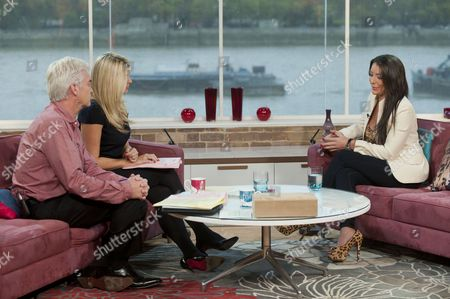 Phillip Schofield and Holly Willoughby with Danielle Spencer