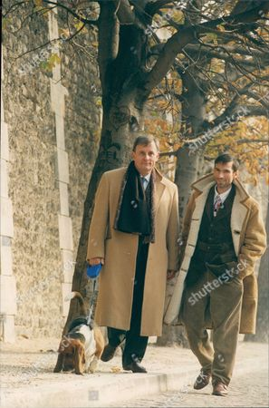 Author Edmund White (left) In Paris With Partner Hubert Sorin