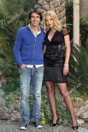 Stock Image of Christian Molina and Valeria Marini