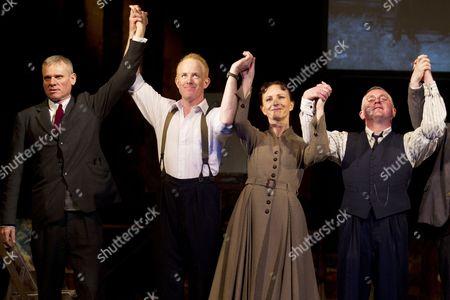 Trevor Fox (Oliver Kilbourn), Ian Kelly (Robert Lyon), Joy Huerta Brook (Helen Sutherland) and Joe Caffrey (George Brown)
