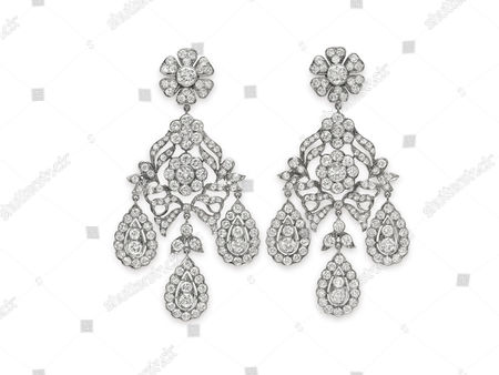 The Mike Todd diamond ear pendants
