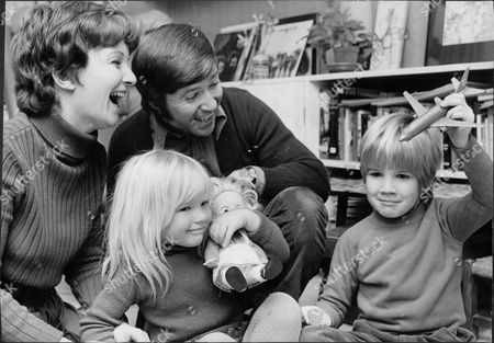 Actor John White And Actress Julie Stevens With Their Children Daniel 6 And Rachel 4 Of Ferry Road Barnes.