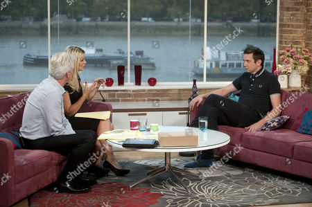 Phillip Schofield and Holly Willoughby with Craig Gazey