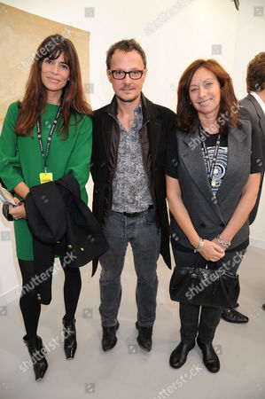Lisa B, Jonathan Yeo and Anita Zabludowicz