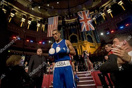 Joel Kirby from the Royal Navy Entering the Ring