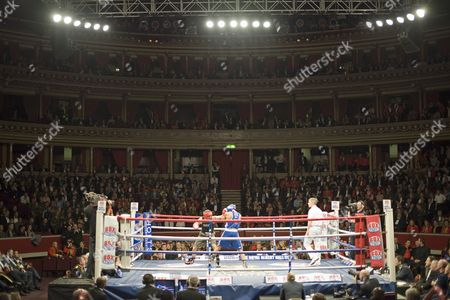 Stock Photo of Joel Kirby from the Royal Navy Entering the Ring