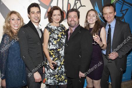 Daisy Haggard (Becky Shaw), Vincent Montuel (Andrew Porter), Haydn Gwynne (Susan Slater), Peter DuBois (Director), Anna Madeley (Suzanna Salter) and David Wilson Barnes (Max)