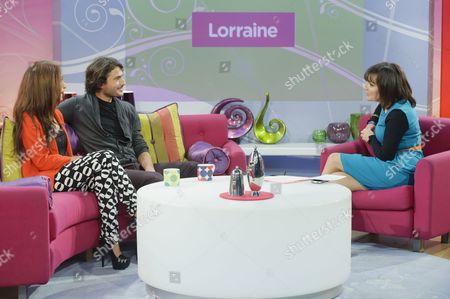 Preeya Kalidas and Marc Elliot with Lorraine Kelly
