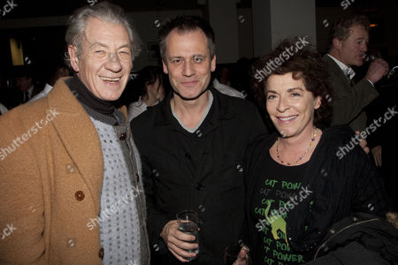 Sir Ian McKellen, Michael Grandage (Artistic Director) and Suzanne Bertish