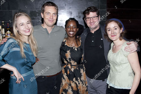 Sarah Goldberg (Betsy/Lindsey), Stephen Campbell Moore (Karl/Steve), Lorna Brown (Francine/Lena), Stuart McQuarrie (Russ/Dan) and Sophie Thompson (Bev/Kathy)